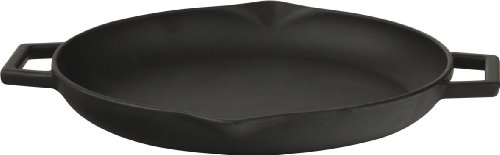 Lava Signature Cast-Iron Frying /Grill Pan with Iron handles- 12 inch, Slate Black