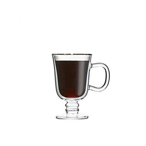Double Wall Irish Coffee Glass Mug Set of 2, by Brilliant (Irish Coffe Cup 7.5oz.) by Brilliant (Image #2)