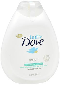 Baby Dove Lotion Sensitive Moisture Fragrance Free - 13 oz, Pack of 4 by Baby Dove