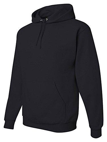 (Jerzees Youth 8 oz., 50/50 NuBlend Fleece Pullover Hood (996Y)- BLACK,M)