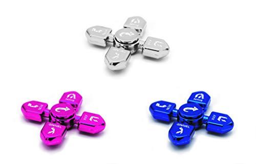 Hanukkah Dreidel Fidget Spinner Multi-Pack! Metallic Silver, Metallic Blue, Metallic Fuchsia/Pink Chanukah Toys! (x5 Sets of 3 Fidget Spinners, Total of 15) - The Dreidel Company by The Dreidel Company (Image #5)