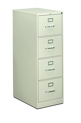 (HON 4-Drawer Filing Cabinet - 310 Series Full-Suspension Legal File Cabinet, 26-1/2-Inch Drawers, Light Gray)