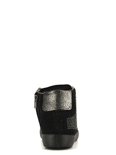 CAFè Noir Scarpe Donna allacciata sneaker in camoscio con brillantini laterali colore nero EC611 - 016