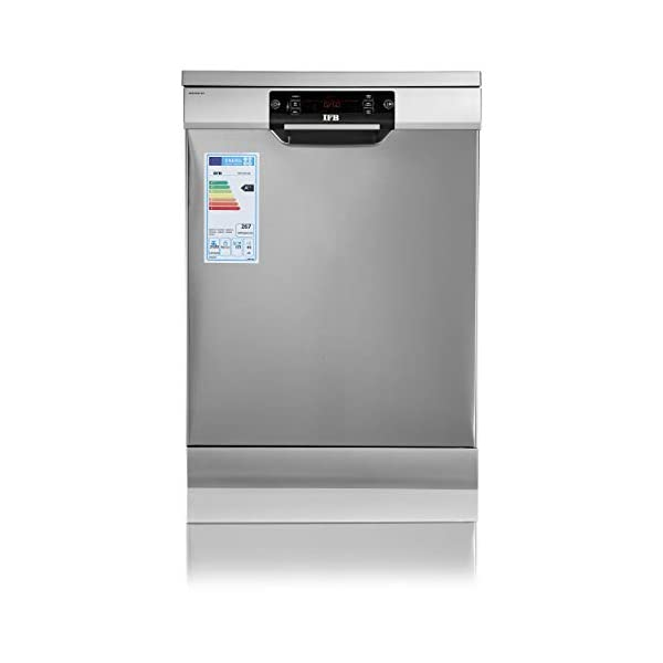 IFB Neptune SX1 Fully-automatic Front-loading Dishwasher (15 Place Settings, Stainless Steel, Inbuilt Heater,Quick Wash…