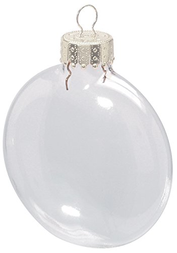 Clear Glass Disc Ornaments: 3-1/8 inches (Clear Christmas Bulbs)