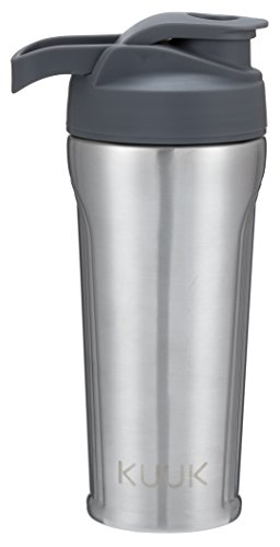 Kuuk Stainless Steel Protein Drink Shaker Water Bottle - 31oz (Gray)