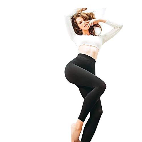 KEEXUENNL 2018 New Be SLIM Sleeping Slimming Legging/Fitness/Yoga high waist thigh Slimming pants/Elastic (Black)