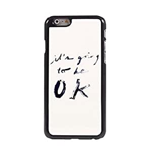 QHY It's Going To Be OK Design Aluminum Case for iPhone 6 Plus , Black-Blue