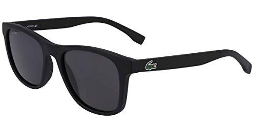 Lacoste Men's L884s L884S-001 Rectangular Sunglasses, MATTE BLACK, 53.11 mm (Sunglasses Lacoste Black)