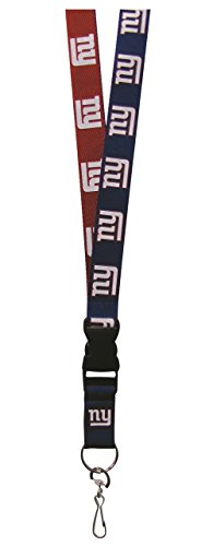 - Pro Specialties Group NFL New York Giants Two Tone Lanyard, Dark Blue/Red, One Size