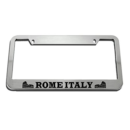 Speedy Pros Rome Italy License Plate Frame Tag Holder by Speedy Pros