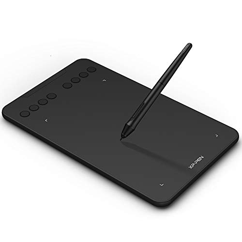 Drawing Tablet XP-PEN Deco Mini7 Pen Tablet with Tilt Function and 8 Shortcut Keys 8192 Levels Pressure Graphics Tablet with Passive Pen