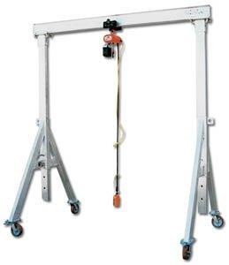 Vestil Mfg. Co., 4000# Capacity Adjustable Height Aluminum Gantry Crane, Aha-4-12-8, Cap. (Lbs.): 4000, Beam* Length: 12', Clear Under Beam: 5'8'' - 8'2'', Wt. (Lbs.): 352, Aha-1-12-8