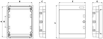 Sicherungskasten Unterputz 3-reihig für 36 Module IP40 mit weißer Tür