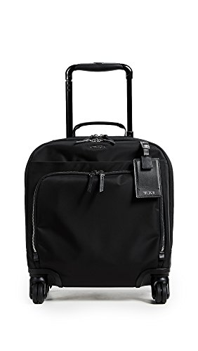 Tumi Women's Voyageur Oslo 4 Wheel Compact Carry-on, Black with Silver by Tumi