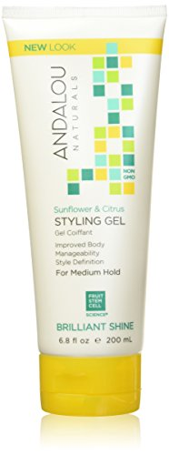 Andalou Naturals Sunflower & Citrus Brilliant Shine Styling Gel, 6.8 oz., Helps Give Hair Smooth Shine & De-Frizz Split Ends