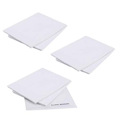 Allwaii Pillow Cases Pure Cotton Pillow Protectors, 220 Thread Counts, Set of 6 Envelope Closure Pillow Cases ()