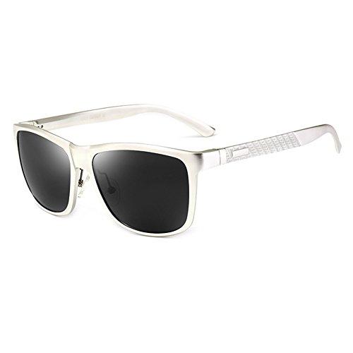 Retro De Gafas Cuadrada Gafas WYYY Aire Sol Hombres Solar Protección Negro Clásico La Plata 100 De Conducción Caja Gafas Luz Protección Anti Color UVA Polarizada Libre UV O5dzq
