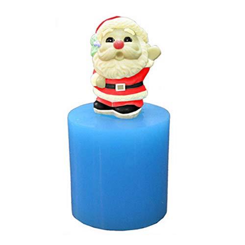 3D Christmas Santa Candle Mold SENREAL DIY Handmade Soap Chocolate Mould Craft Resin Mold Tool