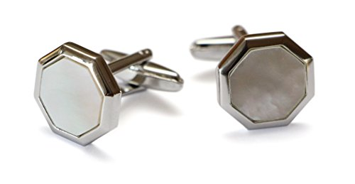 Magnoli Clothiers Doctor Who TENNANT CUFFLINKS Mother of Pearl - 10th Doctor Costume Tie