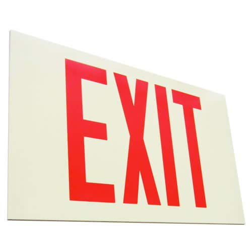 (Elco Lighting EE81S Self Illuminating Exit Sign Red Letters)