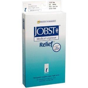 JOBST 114626 Jobst Relief 20-30 Knee-Hi Open-Toe MEDIUM Beige (pair) 20/30MED