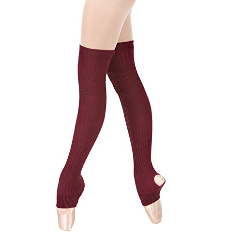 Body Wrappers Women's 36 Stirrup Thigh Legwarmers,Burgundy,One Size from Body Wrappers