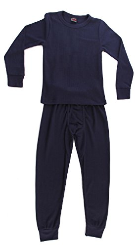 At The Buzzer Waffle Knit Thermal Underwear 2-Piece Set For Boys