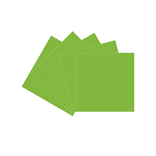 12 x 12 Permanent Vinyl Oracle 651, 5 Packs Lime green Indoor, Outdoor Adhesive-Backed Vinyl in Glossy Finish for Silhouette and Cricut to Make Monograms Stickers Decals and Signs (Lime green)