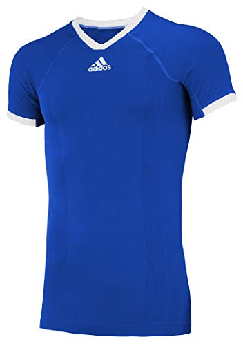 adidas Climacool Primeknit Techfit Mens Performance Compression Jersey Royal-White Small