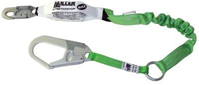 Miller Stretchstop 940RSS-RL Green Shock-Absorbing Lanyard - 6 ft Length - 940RSS-RL-Z7/6FTGN [PRICE is per EACH]