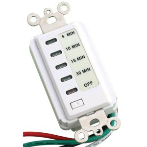 Minute Auto Shut Off Timer - Bathroom Fan Auto Shut Off 30-15-10-5 Minute Preset Countdown Wall Switch Timer White 30-Minute