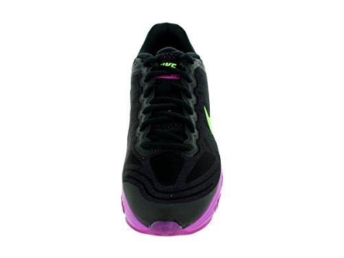 Nike Femmes Air Max Vent Arrière 7 Noir / Flsh Lm / Fchs Flsh / Fchs Glw Chaussure De Course 6 Femmes Nous