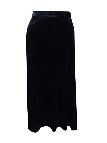Tahari ASL Women's Velvet A-Line Skirt (10, Black)