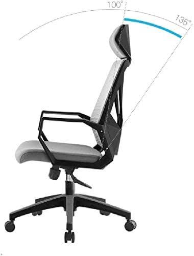 Fauteuil Mesh Accueil Chaise de bureau, milieu du dos Ordinateur bureau Chaise pivotante ergonomique Fauteuil de bureau exécutif Accoudoirs Chaise tabouret