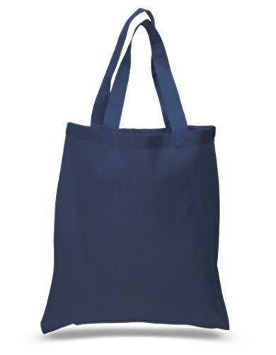 Set of 24 Blank Cotton Tote Bags Reusable 100% Cotton Reusable Tote Bags (2 dozen) (Tote 12 Bags Blank)