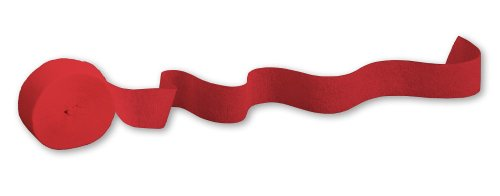 UPC 073525486406, Creative Converting Touch of Color Crepe Paper Streamer Roll, 500-Feet, Classic Red