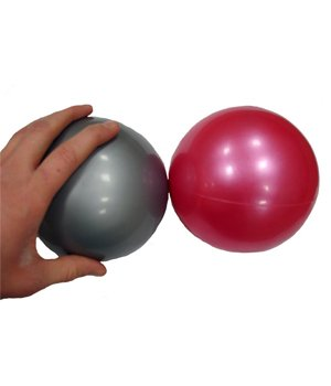 Yoga Direct 1-Pound Weighted Pilates Ball, Silver