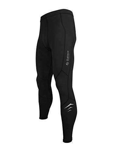 Men's Wetsuit Swimming Pants - Dive Skins Compression Swim Kayaking Paddling Surf Tights Leggings Pant UPF 50+ (Black, XXL) (Surf Skin Pant)