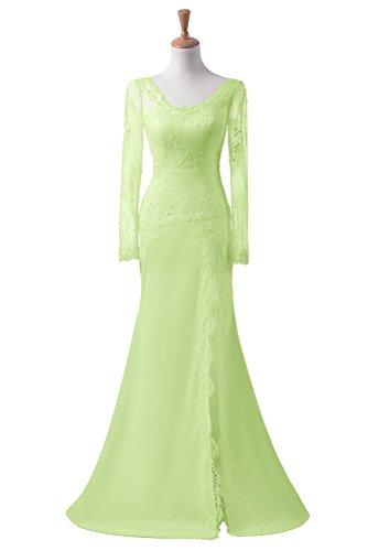 Ballkleid Sage Missdressy Satin Schlitz Spitze Abendkleid Promkleid Lang Partykleid Meerjungfrau 474qx0a
