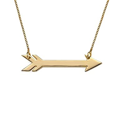 plain silver arrow necklace top