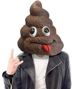 [POOP CRAP TURD Head Mask ~ Soft Latex Rubber Costume Gag Prop - Big Mouth Toys] (Despicable Me Costume Walmart)