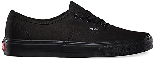 Canvas Trainers Scarpe Vans Nero Authentic Skate Unisex 7HHAtwq