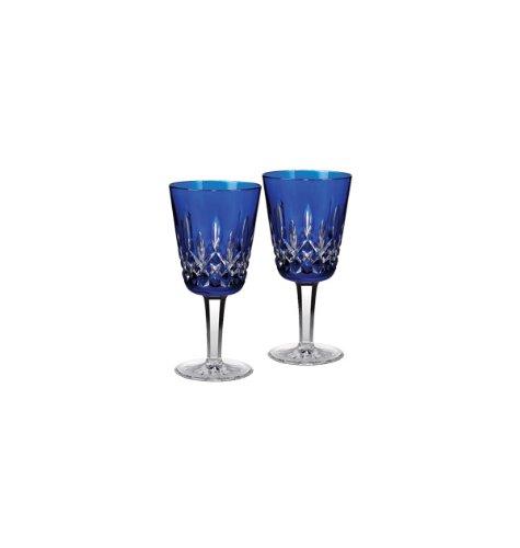 (Lismore Cobalt Goblet (Set of 2))