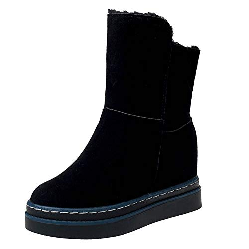 Women Velvet Boots,Mosunx Lady Thick-Soled Snow Booties with Two Cotton Shoes (5.5B(M) US, Black) by Mosunx Women Shoes