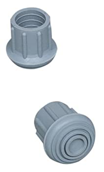 "Walker / Commode Replacement Tips, #20 1"" 4 Per Box Grey"