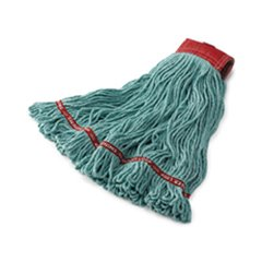 RCPC153BLU - Swinger Loop Wet Mop Heads, Cotton/Synthetic, Blue, Large