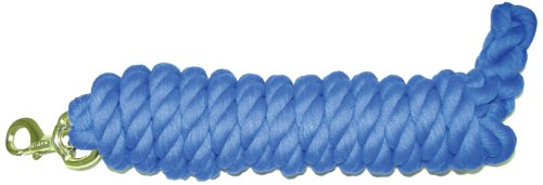Hamilton Cotton Lead with Brass-Plated Bolt Snap, Blue, 3/4
