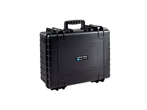 B&W International 6000/B/Solo 6000 Waterproof 3DR Solo, Durable Type, Outdoor Case with Custom Insert, Black
