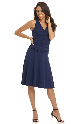 Pairs Fancy Dress Ideas (Rekucci Women's Slimming Sleeveless Fit-and-Flare Tummy Control Dress)